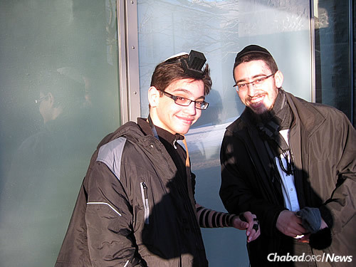 For many of Iceland's Jews, the presence of rabbinical students brings a welcome opportunity to put on tefillin.