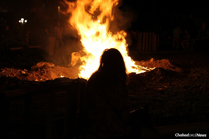 At last year's Lag BaOmer bonfire in the popular Northern Liberties neighborhood of Philadelphia. This year, Chabad is joining with the young professionals' group The Chevra to hold an event for all ages.