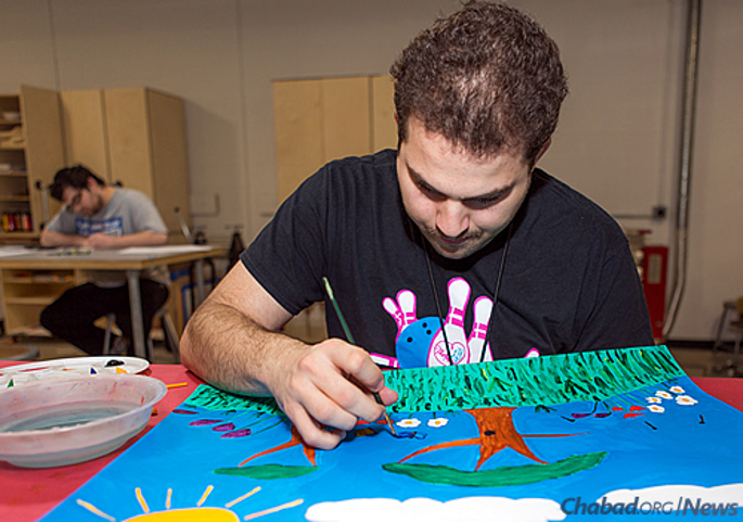 """Nick Gammicchia of Shelby Township, Mich., feels that """"good art takes you through all the emotions."""" (Photo: Brandon Schwartz)"""