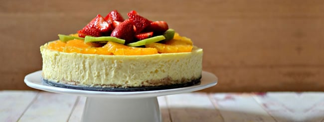 Classic Cheesecake with Fresh Fruit for Shavuot