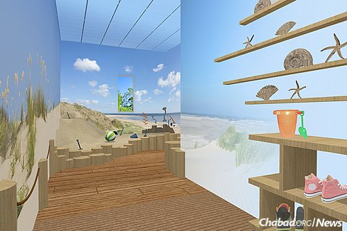 A sand room will also to be used for sensory purposes and exercises.