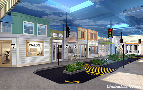 "At the heart is ""Life Village,"" a simulated main street with traffic lights, a park, sidewalks and 16 different shops. Real-world settings such as a dental office will help participants practice life skills in a safe and controlled environment to better prepare them for independent living."