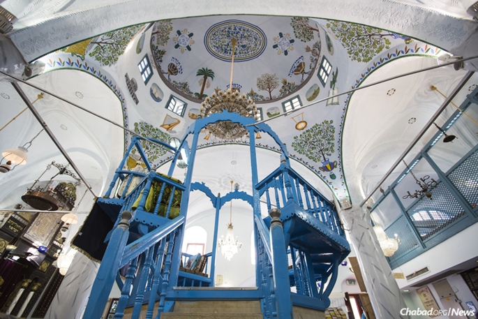 """The historic Abuhav Synagogue is one of 60 in Safed where the """"Tikkun Leil Shavuot"""" will be recited on the first night of the festival."""