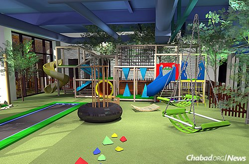 An indoor sensory park and playground will be designed to mimic a natural park