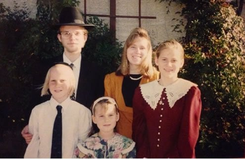 The author's children when they were young.