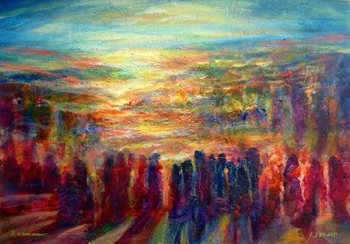 המרגלים. ציור: יורם רענן
