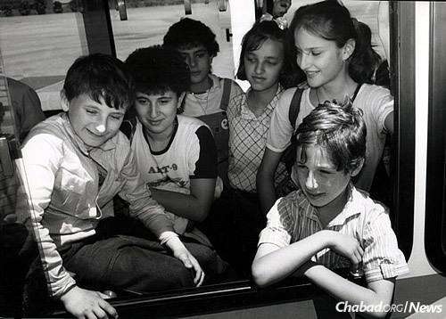 The children were first housed in Kfar Chabad, and many ultimately grew up there.