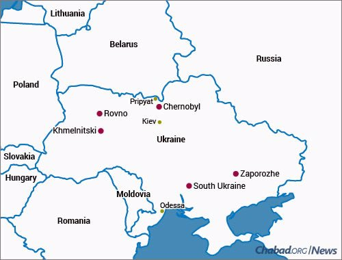 A map of Ukraine showing the location of Chernobyl and its immediate surroundings (Photo: World Nuclear Association)