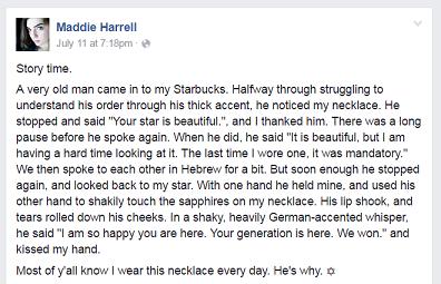 Maddie Harrell FB post