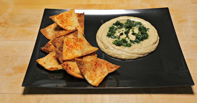 Hummus Pita Chips Appetizer Kosher Recipe Video