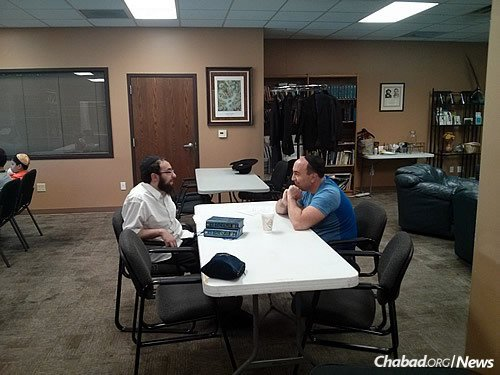 Discussing Torah with those who relish the chance to solidify their Jewish knowledge.