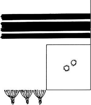 Fig. 9: Corner of tallis katan. (See sec. 11:35.)