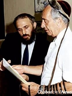 Donning tefillin in 1985