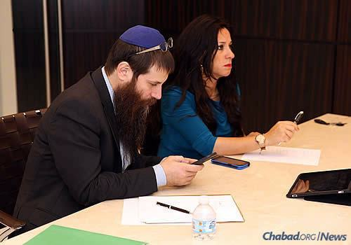 Chabad emissaries discuss disaster plans, evacuation needs and other logistics as the storm threatens the east coast of Florida and beyond. (Photo: Chavi Konikov)