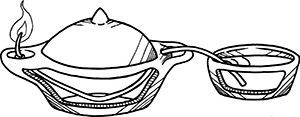 Fig. 9: A Bowl Used as a Reservoir for an Oil Lamp