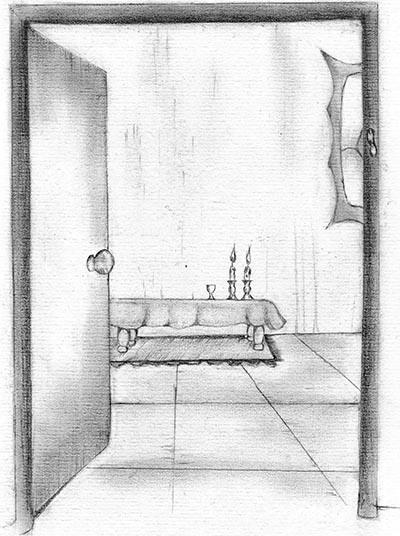 Fig. 15: Candles Opposite a Door