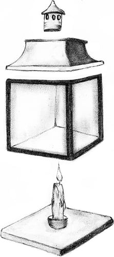 Fig. 17: A lamp that is assembled from different component parts
