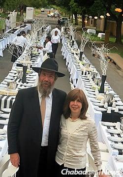 Rabbi Dovid Yitzchok and Feige Hazdan have served as emissaries since 1983.