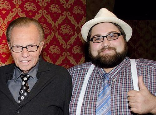 Danny Lobell with legendary broadcaster Larry King (provided).