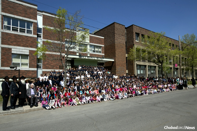 Beth Rivkah Academy, a Chabad-Lubavitch-affiliated girls' school in Montreal, was recently named one of the best high schools in Québec province in Canada. It was established 60 years ago with 10 students; today, more than 500 are enrolled.