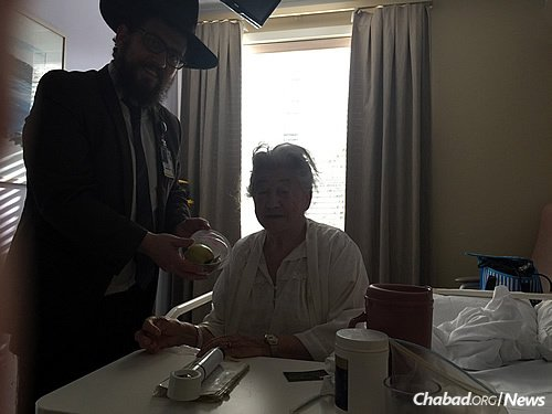 Rabbi Feldman met Hacker this fall while delivering Rosh Hashanah packages of apples and honey to a local hospital.