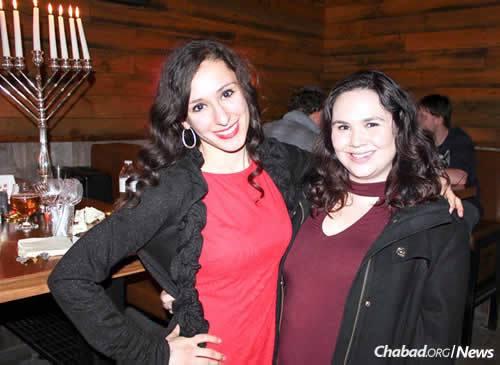 Emily Goldstein, left, and Ari Pressman