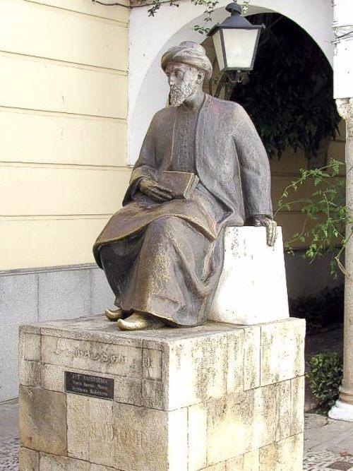 Monument to Maimonides in Cordoba, Spain.