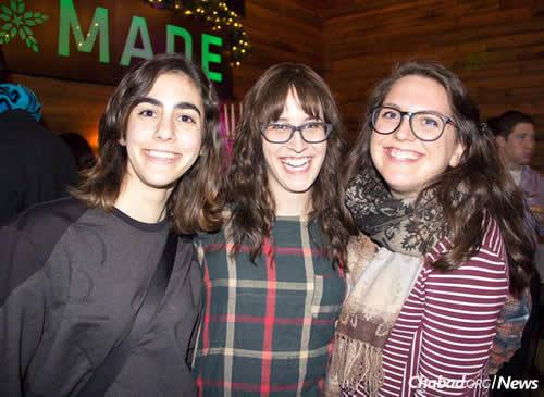 From left: Sara Lang, Jessie Israel and Mia Bronstein