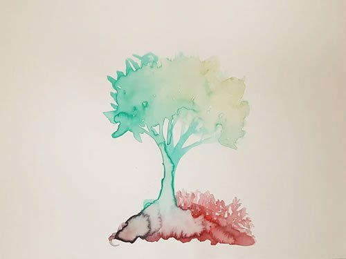 """""""Tree of Life"""" - by Charna Brocha Perman, the author's daughter"""